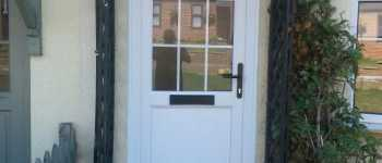 new white front door